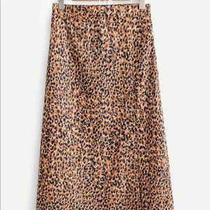 SheIn Leopard Print Maxi Skirt